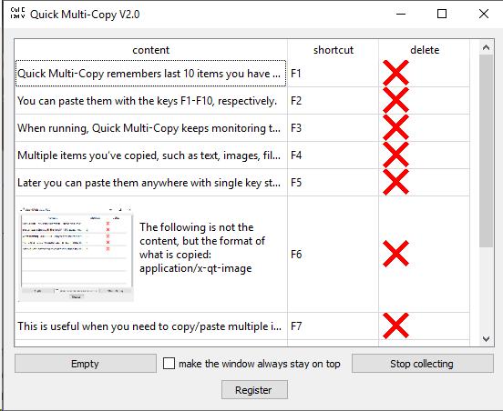 Quick Multi-Copy screen-shot