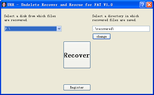 Undelete Recover and Rescue for FAT